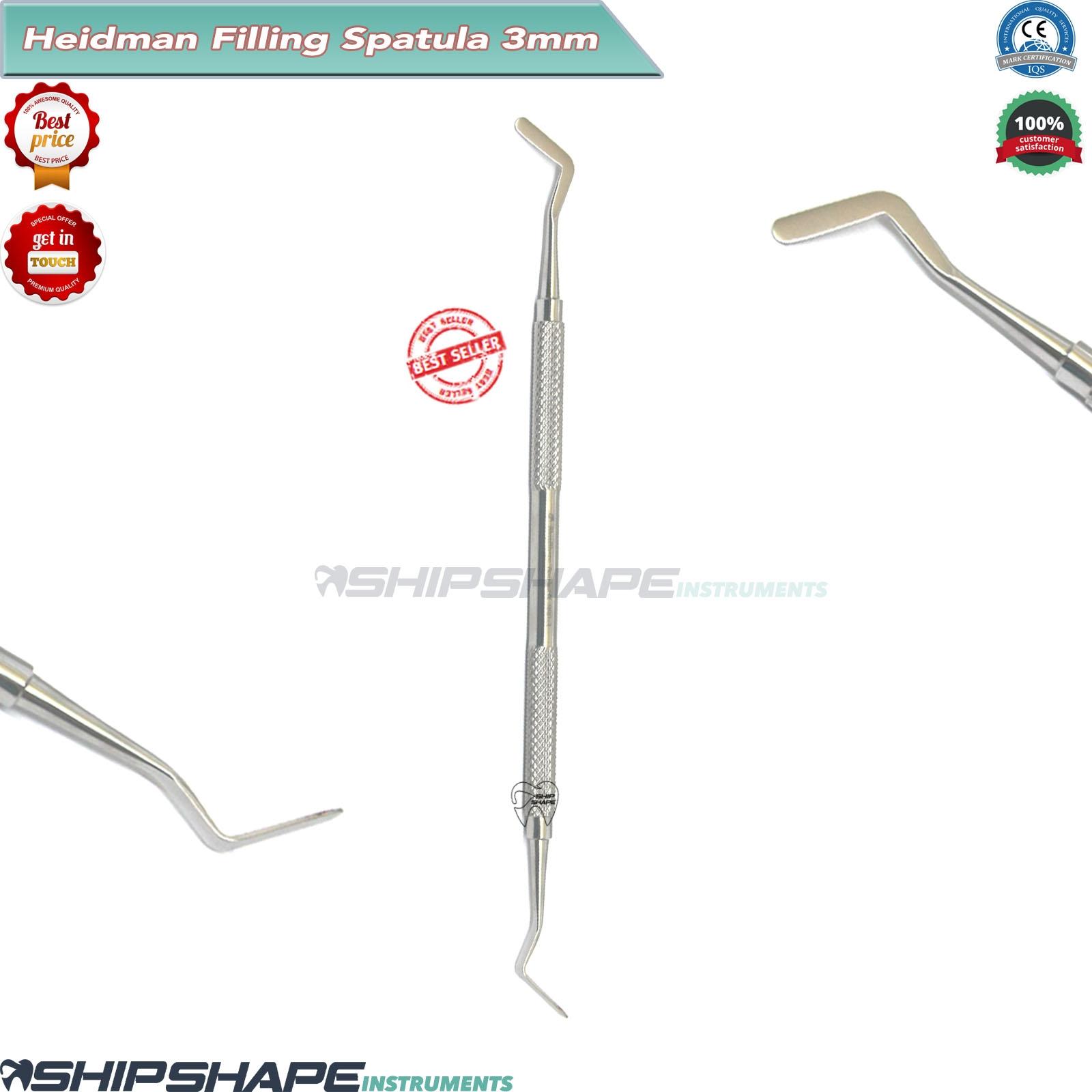 Dental Heidman Composite Filling Spatula Flat Plastic Placing Mixing Tools Steel-0