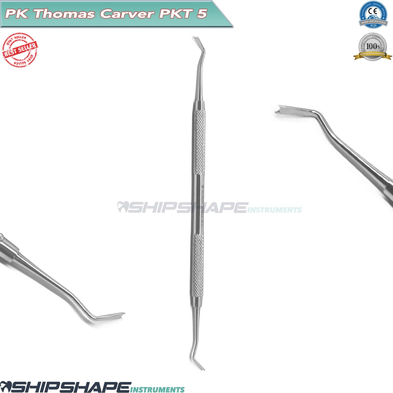 PK.THOMAS Carvers SET of 5 Stainless Steel Dental Wax and Modelling Carving Lab PKT1, PKT2, PKT3, PKT4, PKT5-2071