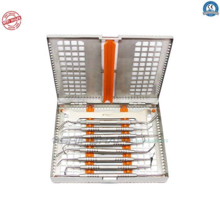 Sinus Lift Instruments Implant Dentistry Gum Tissue Sinus Lift Gum Procedure Hollow Handle Dental Instruments + Cassette-1684